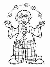 Coloring Clown Juggling Clowns sketch template