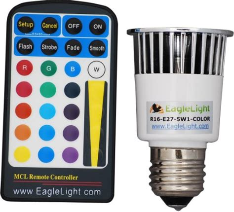 multi color e27 led light bulb with remote import it all