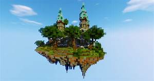 Completed Floating Island Spawn Minecraft Market