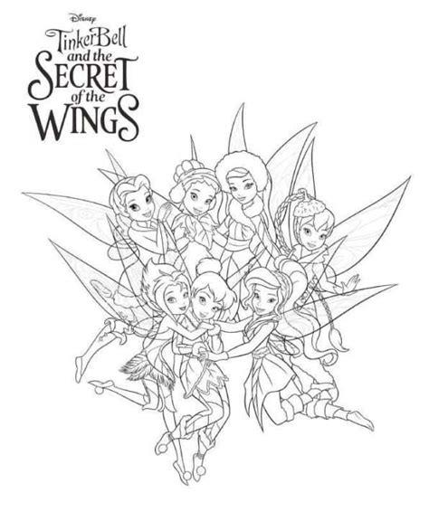 Kleurplaat Wings by Kleurplaat Tinkelbel Secret Of The Wings Tinkerbell Secret