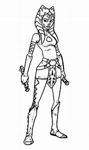 Ahsoka Tano Coloring Pages Printable Coloring Pages