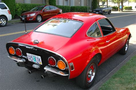old opel old parked cars 1970 opel gt