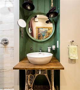 Moscow, Eclectic, Bathroom, Ideas, With, Mirror, And, Shower, Door