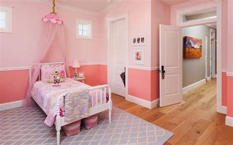 kamar tidur anak perempuan minimalis warna pink