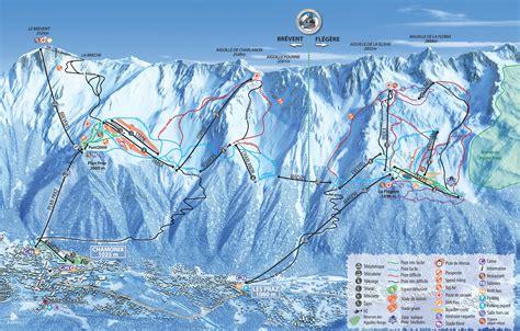 chamonix valley ski resorts map grands montets la