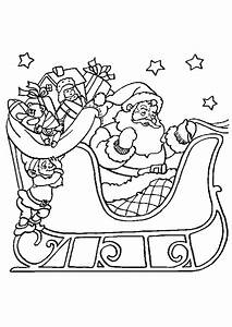 Traineau Du Père Noel : un lutin se cache derri re les cadeaux dans le traineau du p re no l dessin colorier ~ Medecine-chirurgie-esthetiques.com Avis de Voitures