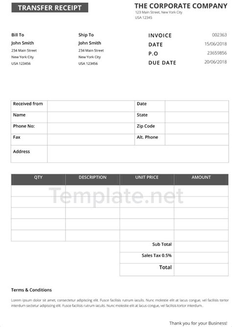 Thermal Paper Templates by 21 Receipt Templates Free Premium Templates