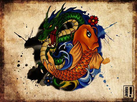 japanese koi  dragon wallpapers top  japanese koi  dragon backgrounds wallpaperaccess