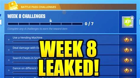 Fortnite Week 8 Challenges Leaked! Week 8 All Challenges