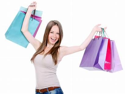Shopping Bags Holding Woman Happy Transparent Biz