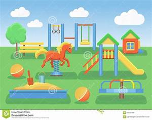 Background clipart playground - Pencil and in color ...