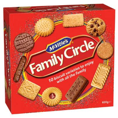 McVities Family Circle Biscuit Assortment 620g Brittains