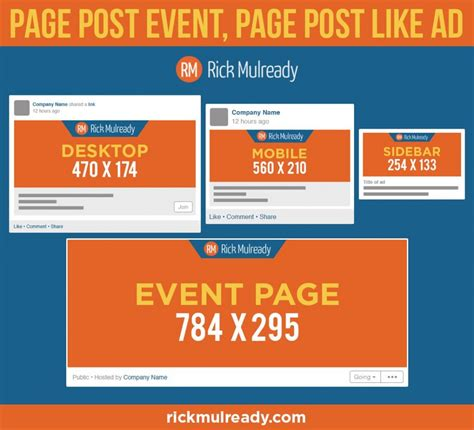 Post Image Image Size Page Post Event Page Post Like Ad