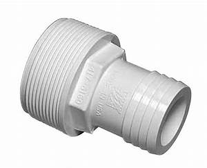 1 5 U0026quot  Pvc Straight Hose Adapter For Above Ground Pool Pump   417