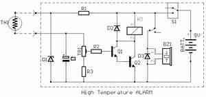 Temperature Warning Indicator Circuit