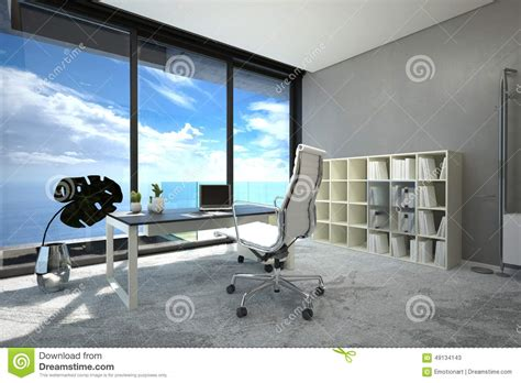 bureau lumineux intérieur moderne lumineux de bureau spacieux illustration