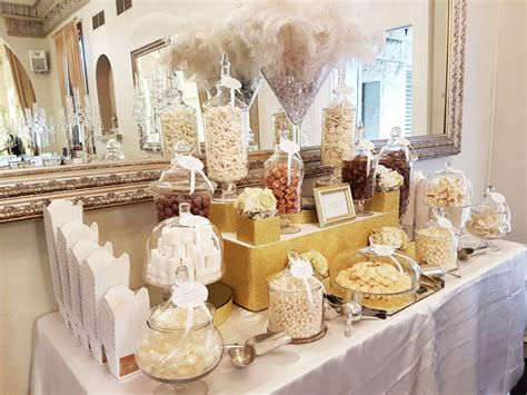 curzon hall gold white buffet candy buffet  candy