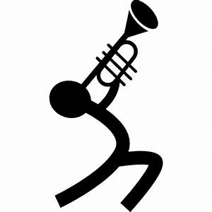 Musician playing a trumpet Icons | Free Download