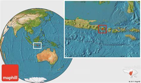 satellite location map  kab tabanan