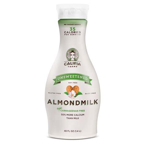 milk almond califia unsweetened farms almondmilk shoprite toasted oat coconut plant foods oats almonds vitamin calcium b12 milks amish plain