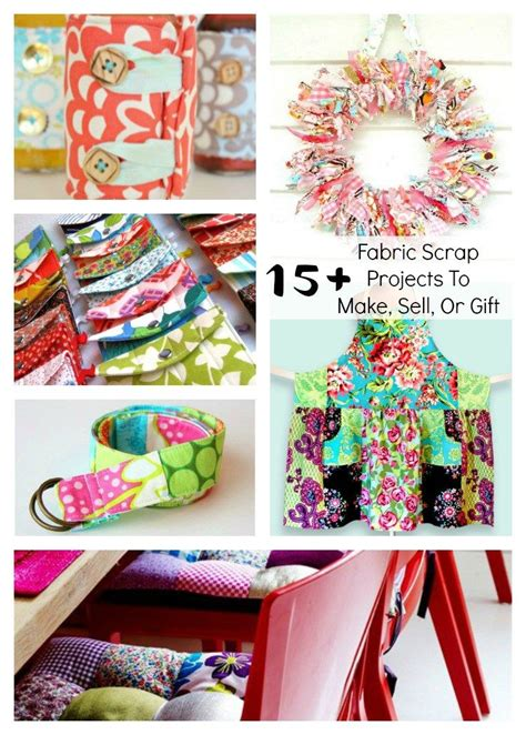 fabric scrap projects   sell  gift tons
