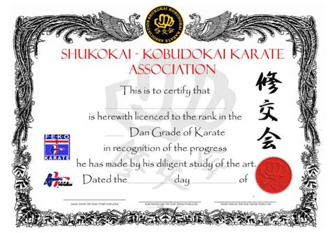 Martial Arts Certificate Template by 26 Awesome Karate Certificate Template Projects To Try