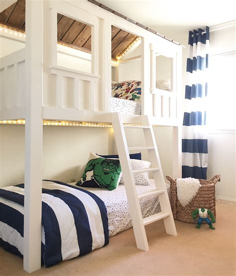 Loft Bed by White Loft Cabin Bed Diy Projects
