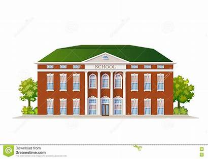 Illustration Building Vector Isolated Classic Classroom