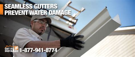 how to become an installer for home depot professionally installed gutters leaf protection by the home depot