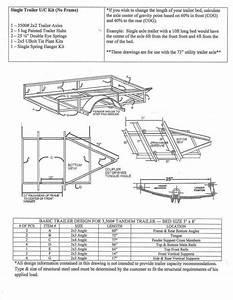 73 U0026quot  Single Axle Trailer Parts Kit