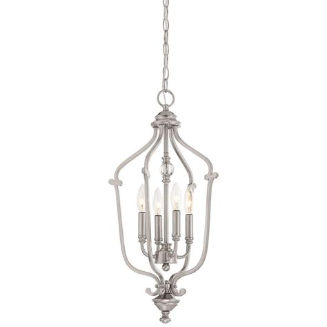 minka lavery savannah row  light brushed nickel pendant