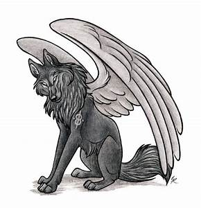 anime wolves with wings | Anime Wolf with Wings | Wolves ...