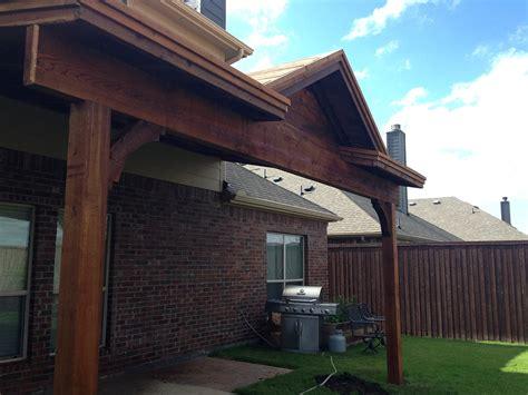 patio cover with gable custom built for mckinney hundt