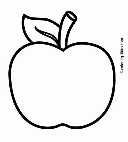 Apple Coloring Pages Printable Fruits Fotolip