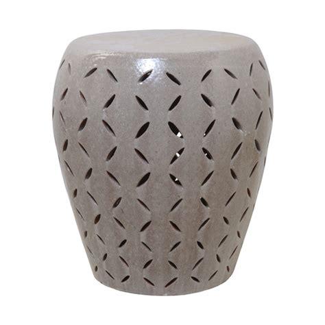 ceramic garden stools large lattice gray glaze ceramic garden stool