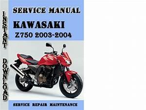 Kawasaki Z750 2003-2004 Service Repair Manual