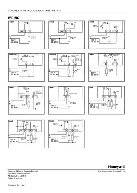 honeywell t4360a wiring diagram 31 wiring diagram images