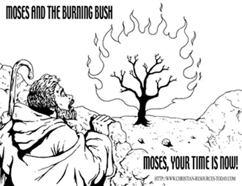 Moses And The Burning Bush Printables Free Bible