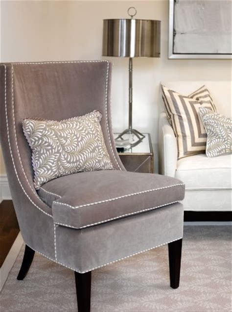 gray chair transitional living room cloverdale paint