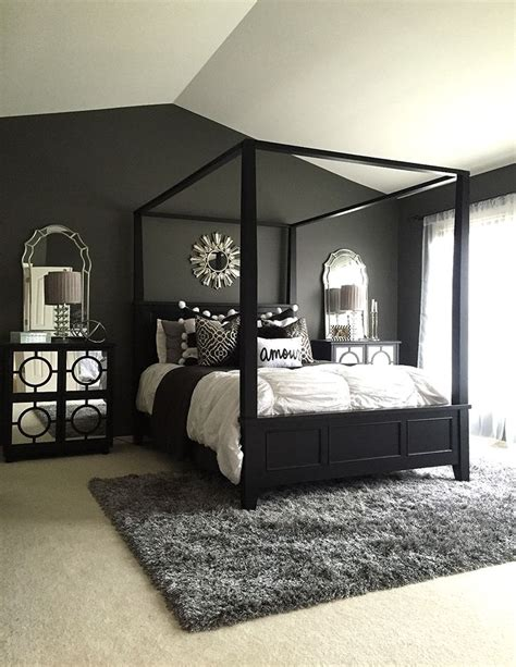 Bedroom Black by These 15 Black Bedrooms Will Add Just The Right Amount Of