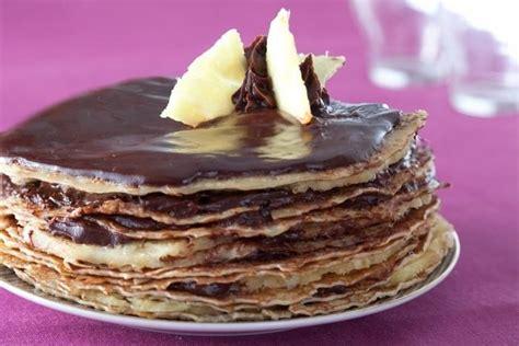 Les Ateliers Cuisine - recette de gâteau de crêpes chocolat ananas facile et rapide