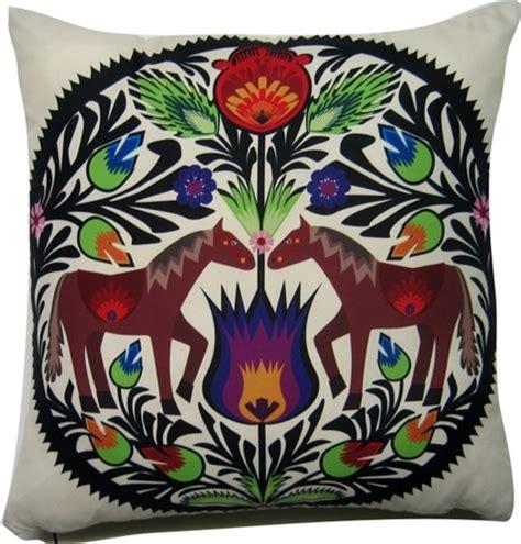 polish art center polish wycinanki folk pillow horses