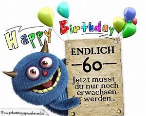 60 Geburtstag Frau Lustig : gl ckw nsche zum 60 geburtstag lustig erwachsen geburtstagsspr che welt ~ Frokenaadalensverden.com Haus und Dekorationen