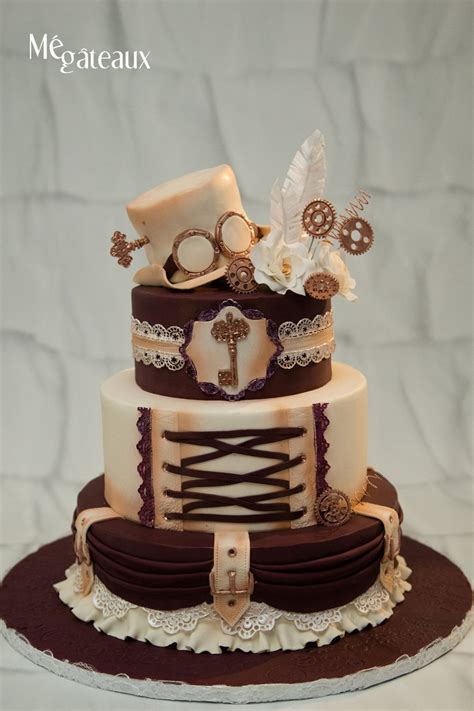 steampunk wedding cake cakecentralcom