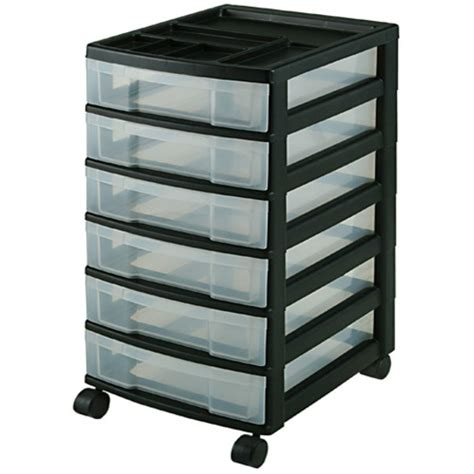 Desk On Wheels With Drawers by 51 Plastic Storage Drawers With Wheels Colorful 4 Tier