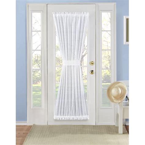 Door Curtains Walmart by Plaid Sheer Door Curtain Panel 72 In White