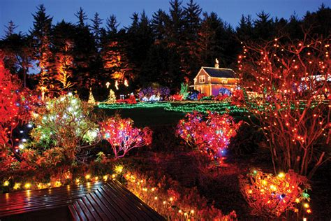 holiday light displays at shore acres state park in oregon