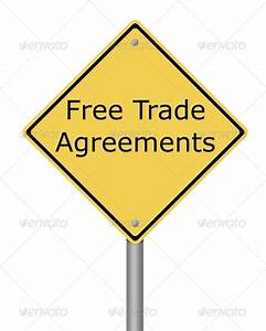 Warning Sign Free Trade Agreement Stock Photo by hlehnerer ...
