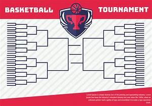 Basketball Tournament Bracket Poster