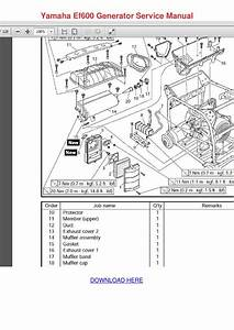Yamaha Ef600 Generator Service Manual By Barbera Cutten